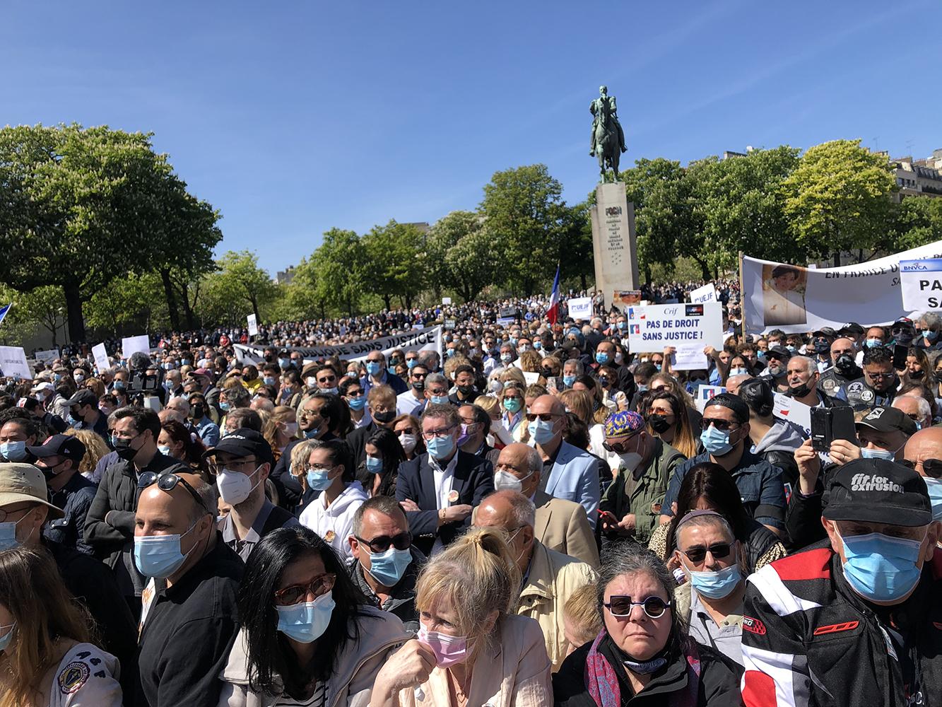 Paris rally for Sarah Halimi - 2