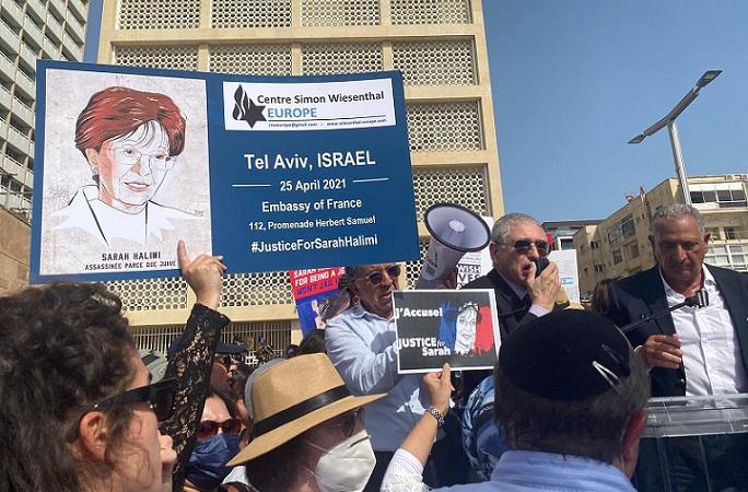 Tel Aviv rally for Sarah Halimi