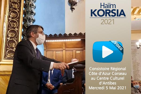 Retrouvez les mots du Président de la Commauté de Nice Maurice Niddam, du rav Franck Teboul, suivis de la conférence de Haïm Korsia