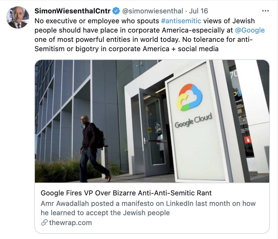 Google-antiSemitic-exec