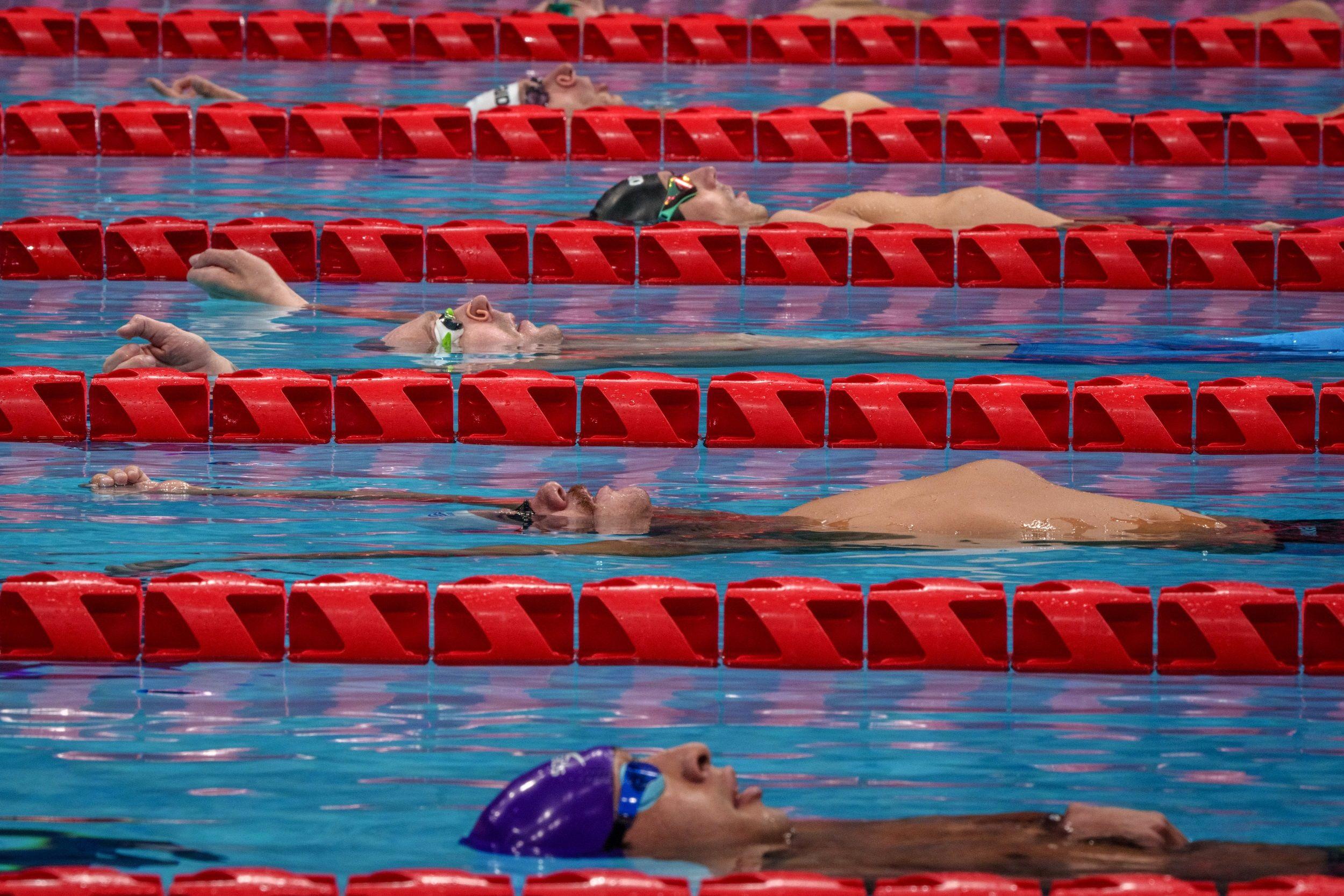 Epreuve de natation du 100 m dos hommes aux Jeux paralympiques de Tokyo 2020, le 25 août 2021