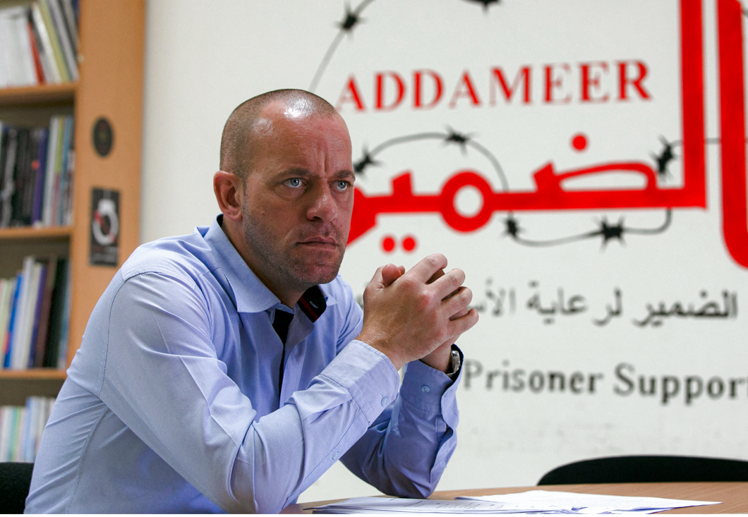 Le terroriste franco-palestinien Salah Hamouri donne une interview à l'AFP à Ramallah, en Cisjordanie, le 1er octobre 2020.